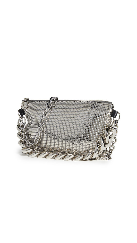 KARA Chainmail Crossbody Bag in silver