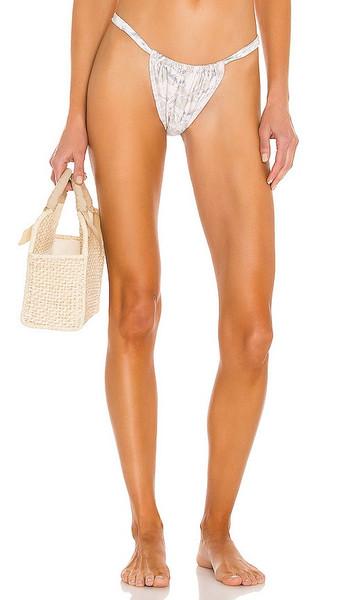 MINKPINK Providence Brazilian Bikini Bottom in Sage in multi