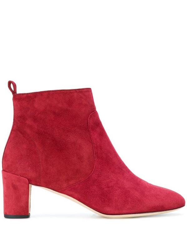 Repetto mid-heel ankle boots in red