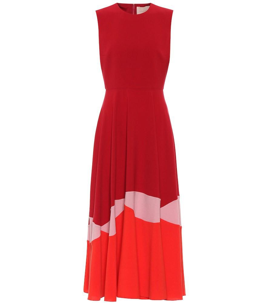 Roksanda Alesi crêpe midi dress in red