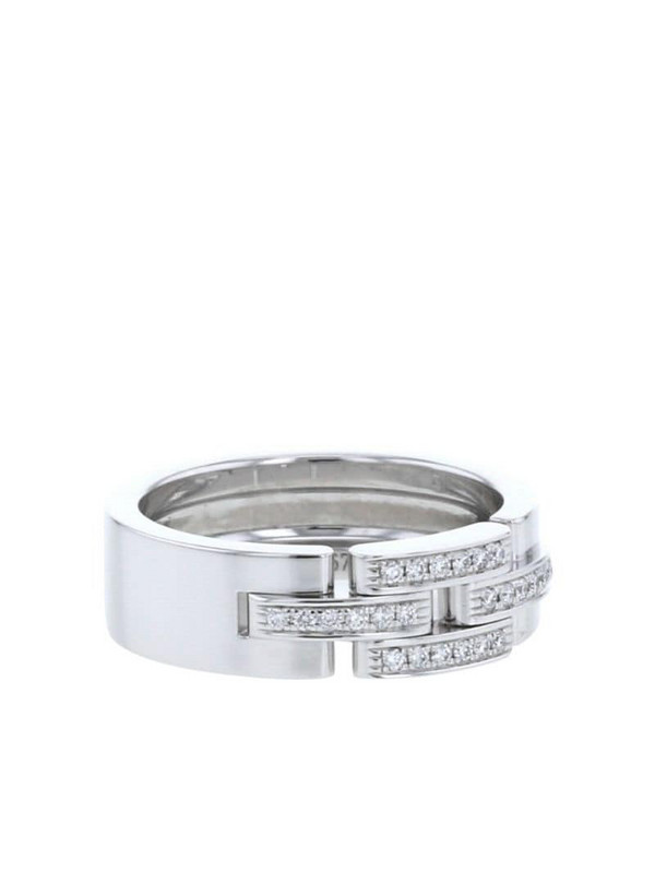 Cartier 2010s pre-owned 18kt white gold diamond Maillon Panthère ring