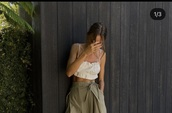 blouse,beige,backless tank,backless top,natural,neutral,tank top,crop