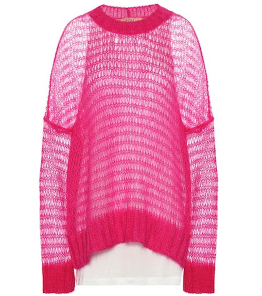 N°21 Mohair-blend sweater in pink