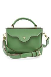 bag,shoulder bag,leather,green