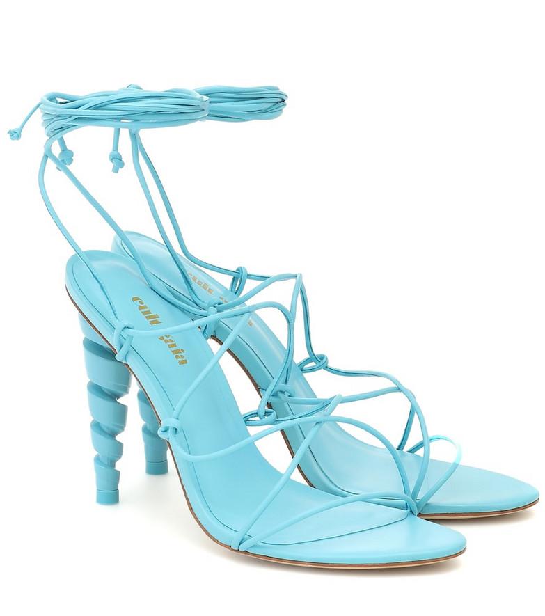 Cult Gaia Lexi leather sandals in blue