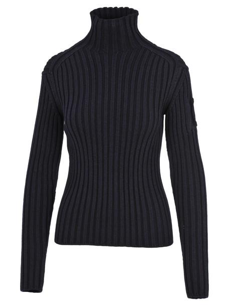 Chloé Chloe High Neck Knit Sweater in blue