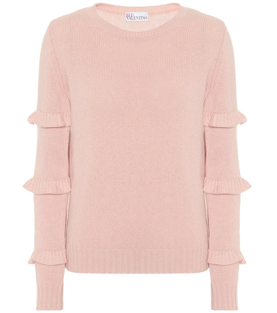 REDValentino Wool-blend sweater in pink
