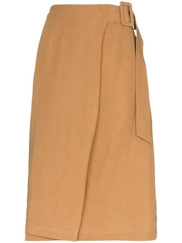 St. Agni Cella wrap skirt in brown