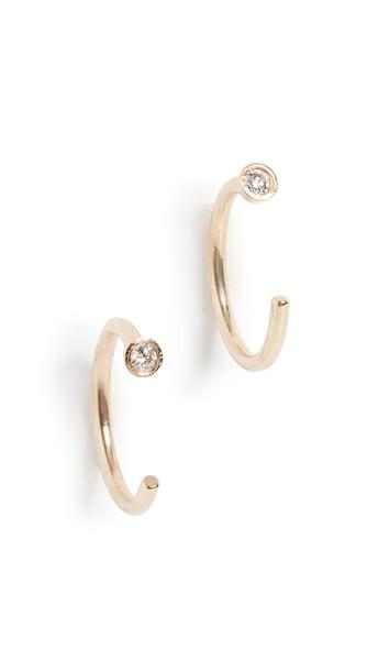 Ariel Gordon Jewelry Mini Diamond Dust Hoop Earrings in gold