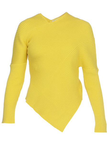 AALTO Asymmetric Sweater in yellow