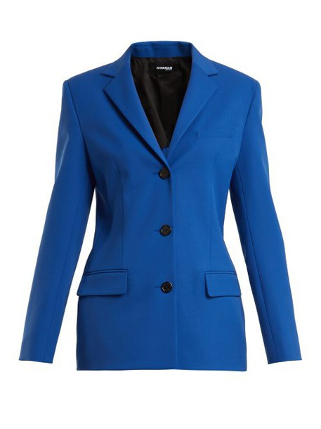 Kwaidan Editions - Vienna Single Breasted Jacket - Womens - Blue