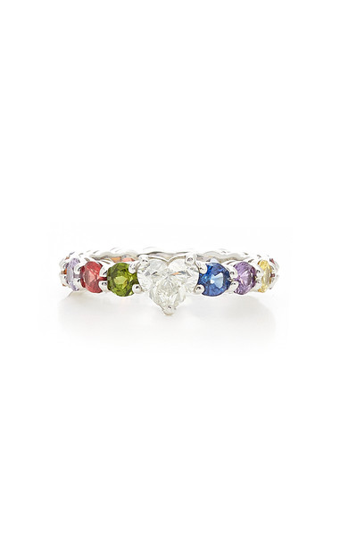 Luisa Alexander 18K Gold, Sapphire And Diamond Ring Size: 8.25 in multi