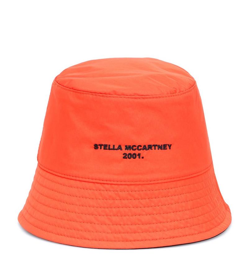 Stella McCartney Reversible logo bucket hat in orange