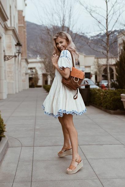 bag, brown bag, sandals, platform