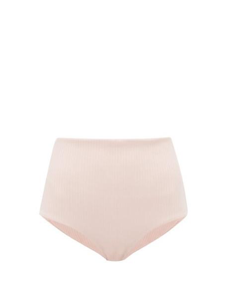 Mara Hoffman - Lydia High Rise Ribbed Bikini Briefs - Womens - Pink