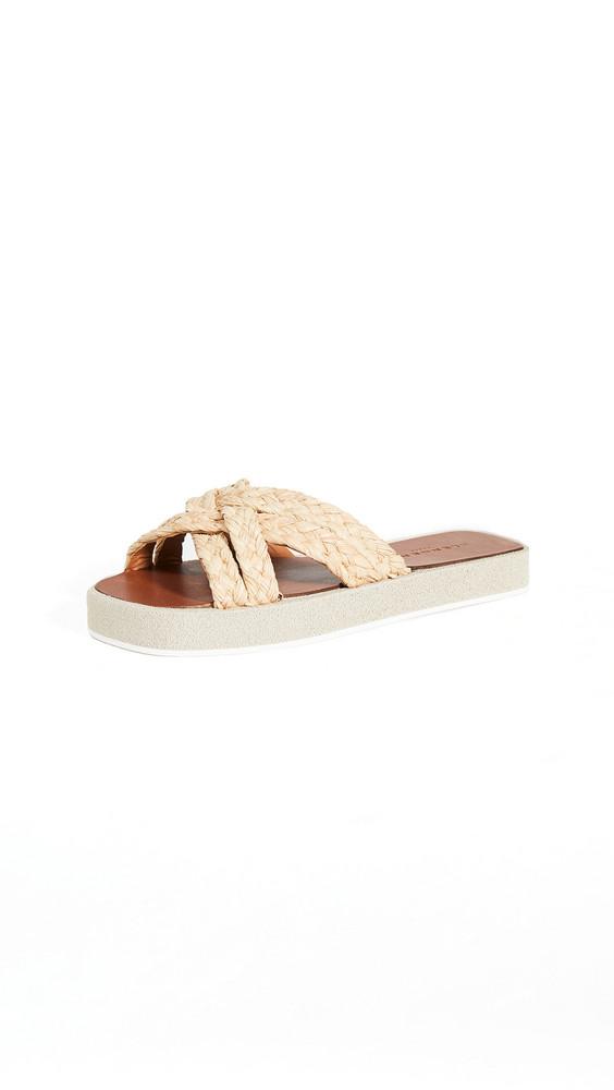 Clergerie Gael Slide Sandals in natural