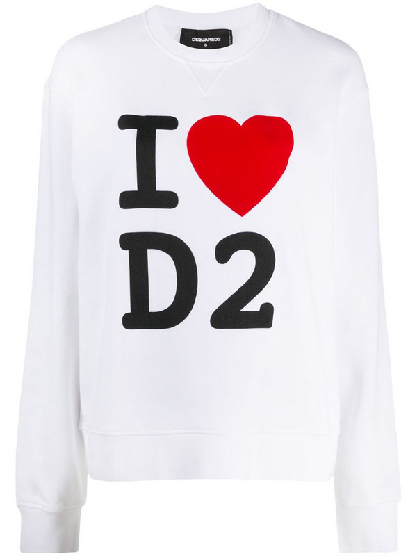 Dsquared2 I Heart D2 print sweatshirt in white