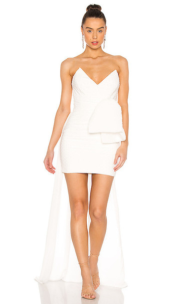 Katie May Eden Rock Mini Dress in Ivory