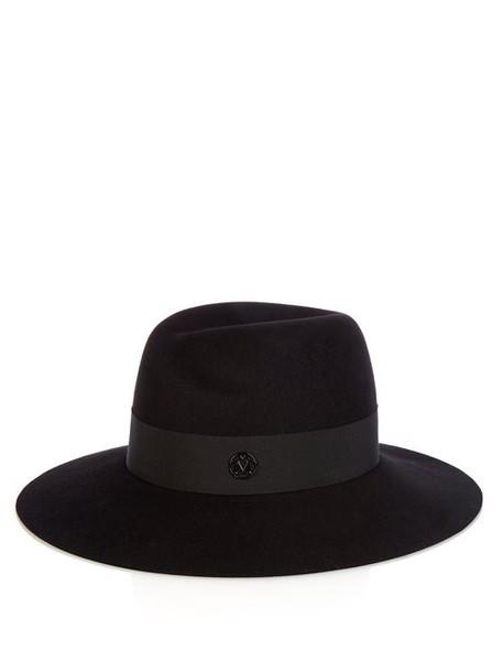 Maison Michel - Virginie Showerproof Felt Hat - Womens - Black