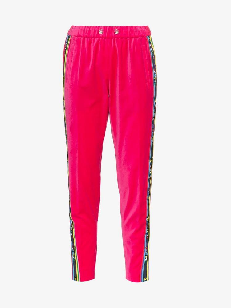 Mira Mikati side stripe tracksuit trousers in pink / purple