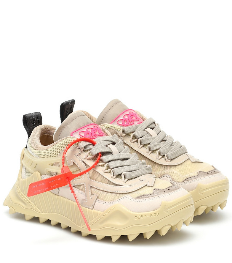 Off-White Odsy-1000 leather sneakers in beige