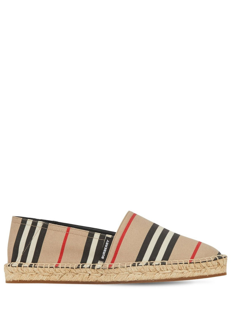 BURBERRY 20mm Alport Check Espadrilles in multi / beige