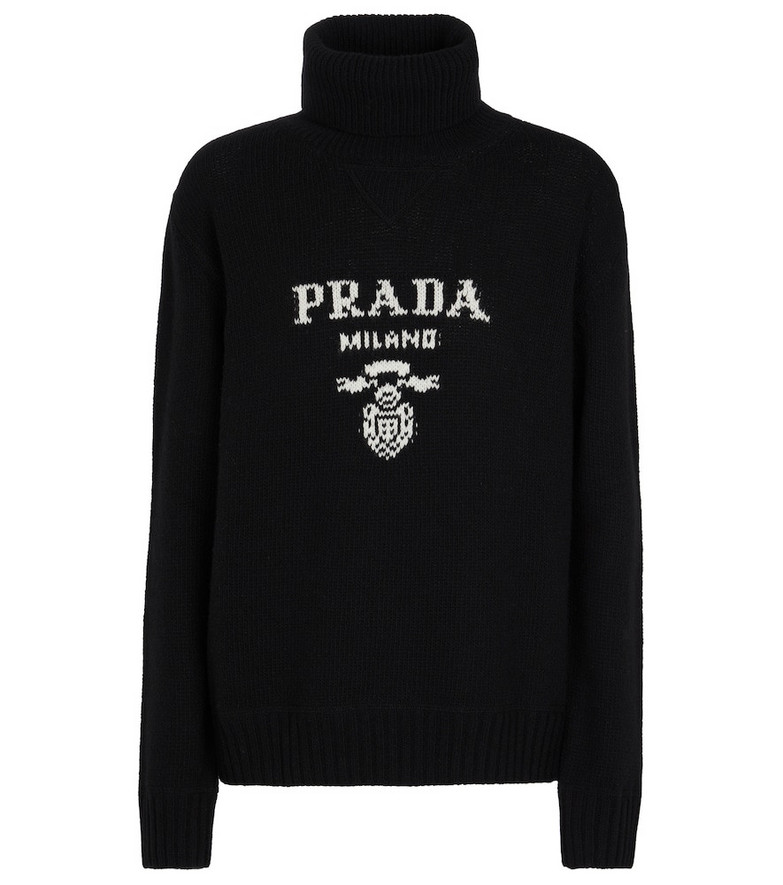 Prada Wool and cashmere turtleneck sweater in black