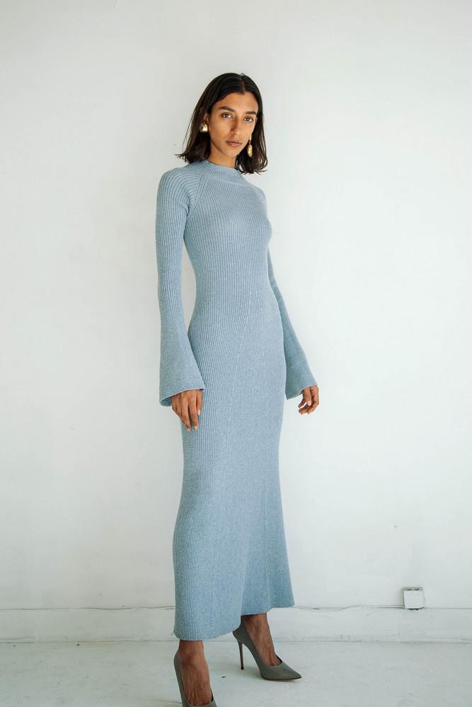 The Line by K SEPTEMBER DRESS DUSTY BLUE
