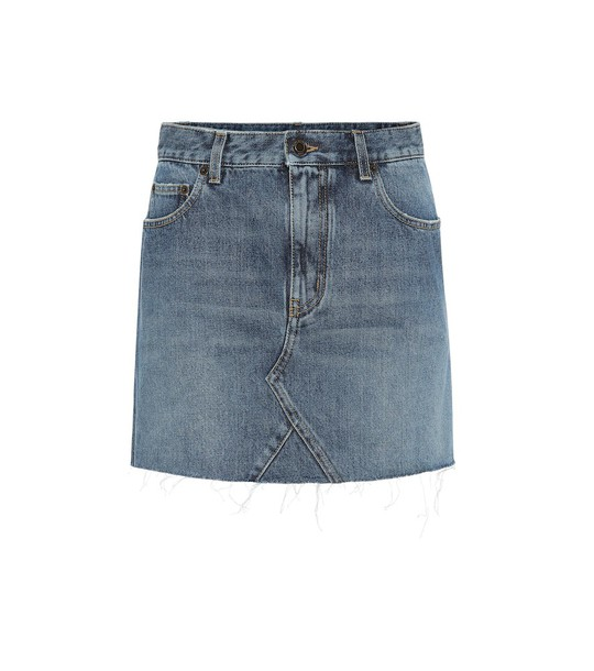 Saint Laurent Denim miniskirt in blue