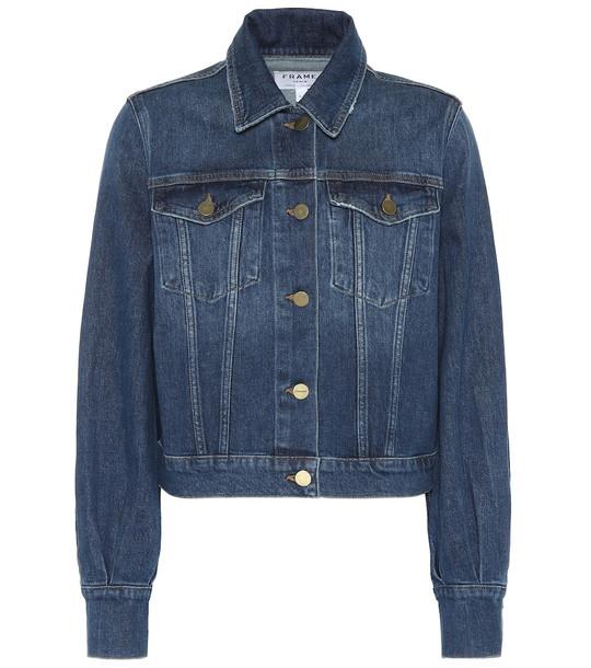 Frame Bishop denim jacket in blue