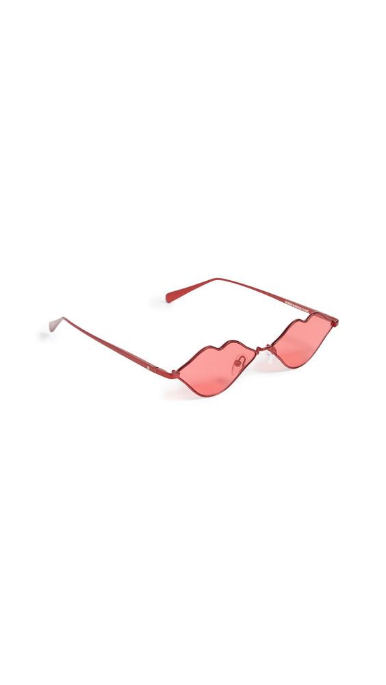 Roberi & Fraud RFxKNC Lips Sunglasses in red
