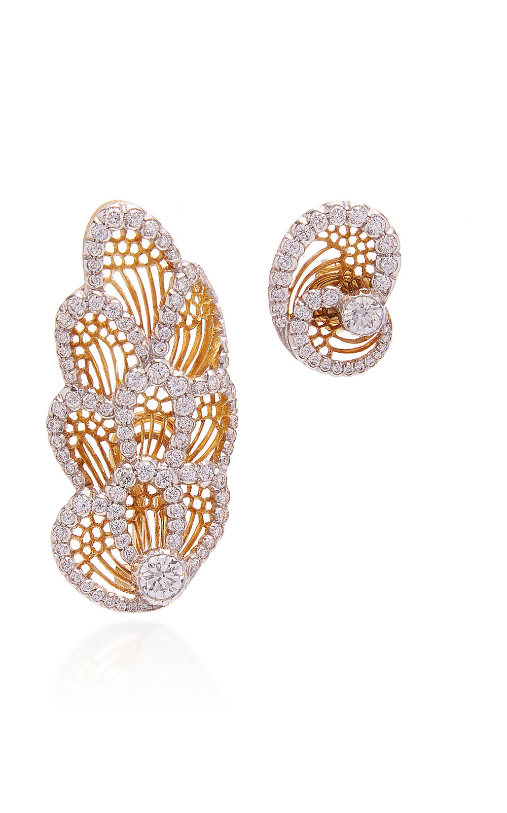 Buccellati Redon Honeycomb Earrings in gold