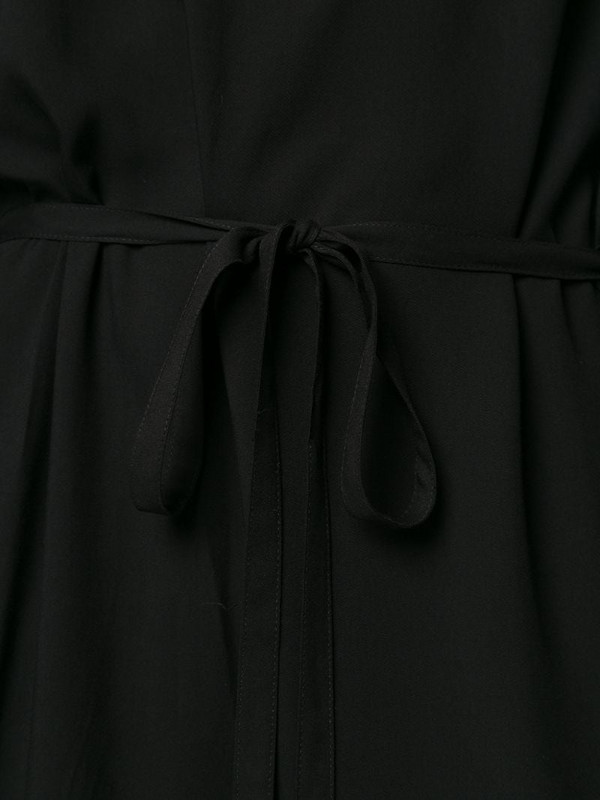 Ann Demeulemeester chiffon blouson dress in black