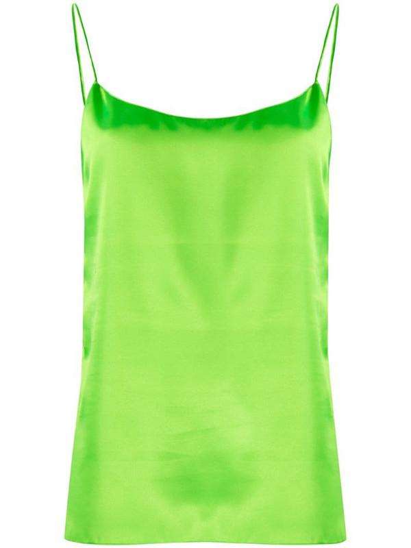 Kwaidan Editions metallic-sheen camisole top in green
