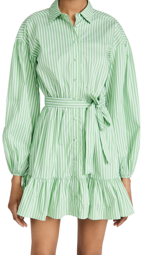 Cinq a Sept Kelly Dress in green / white