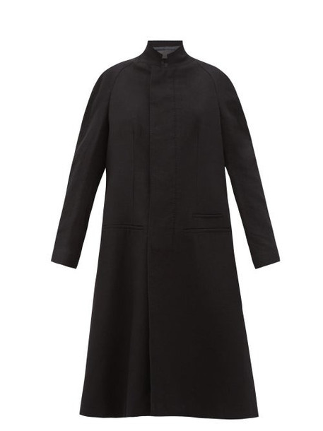 Haider Ackermann - Proud Raglan-sleeve Wool Coat - Womens - Black