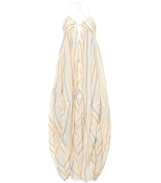Jacquemus La Robe Calci cotton and linen dress in beige