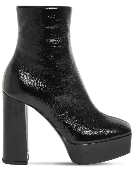 GIUSEPPE ZANOTTI 120mm Patent Leather Ankle Boots in black
