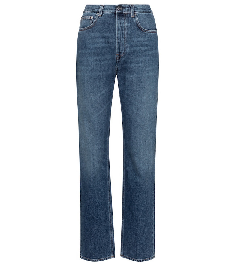 Toteme Mid-rise wide-leg jeans in blue