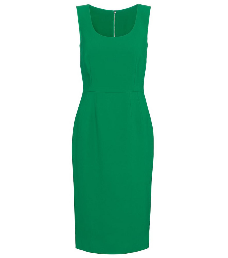 Dolce & Gabbana Cady midi dress in green