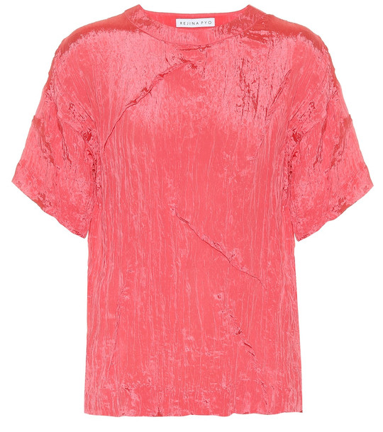 Rejina Pyo Mattie satin blouse in pink