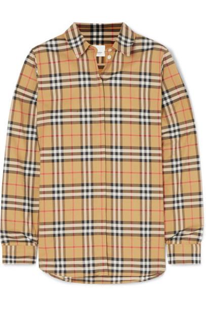 Burberry - Checked Cotton-poplin Shirt - Beige