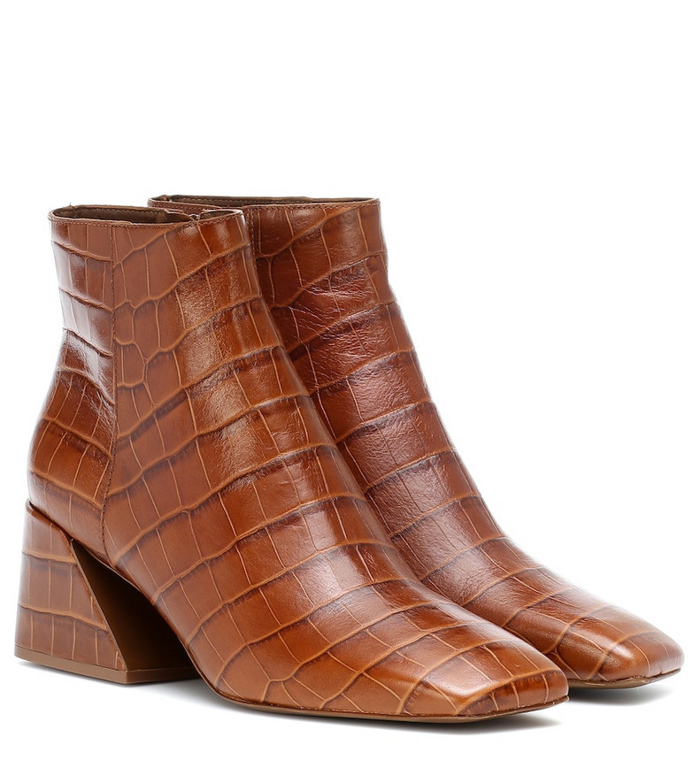 Mercedes Castillo Jimme leather ankle boots in brown