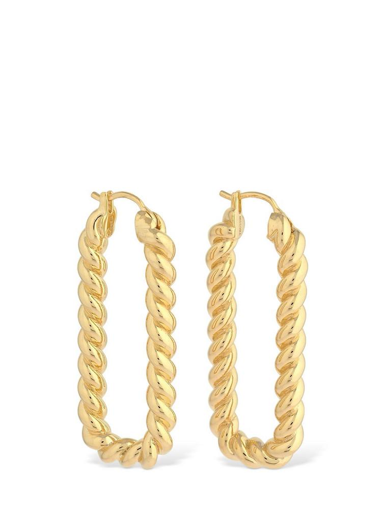 MISSOMA Tidal Ovate Hoop Earrings in gold