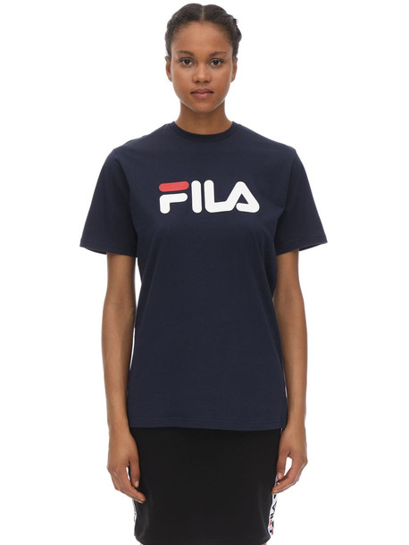 FILA URBAN Basic Logo Cotton Jersey T-shirt in navy