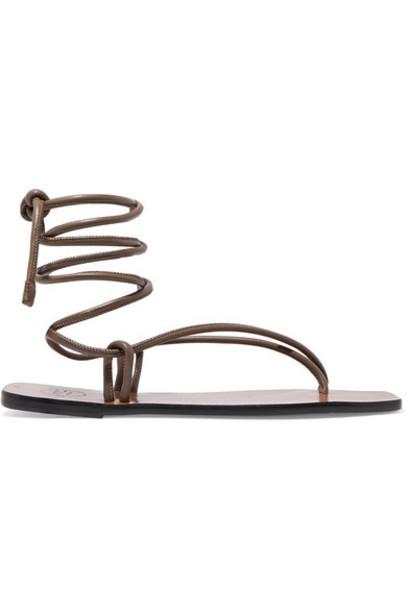 ATP Atelier - Alezio Leather Sandals - Brown
