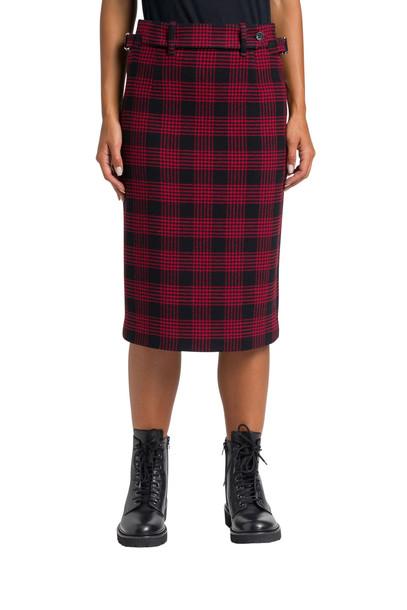 RED Valentino Check Midi Skirt