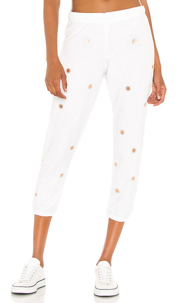 Michael Lauren Nate Crop Sweatpant in White