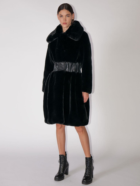 KARL LAGERFELD Faux Fur Coat in black