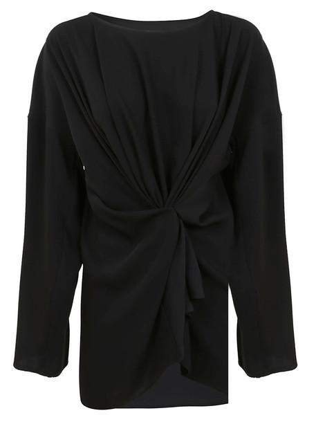 Furla Black Technical Fabric Blouse